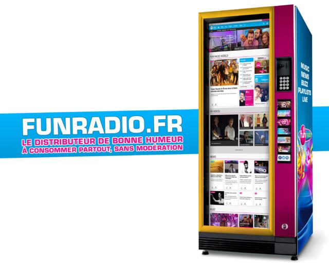 Fun Radio lance son distributeur de bonne humeur