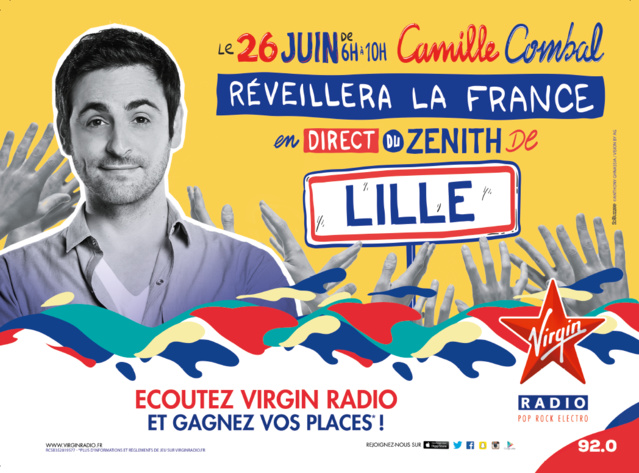 Camille Combal réveillera ses auditeurs depuis le Zénith de Lille