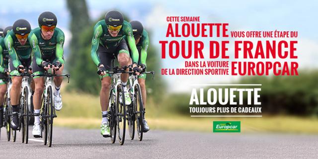 Alouette offre une étape du Tour de France
