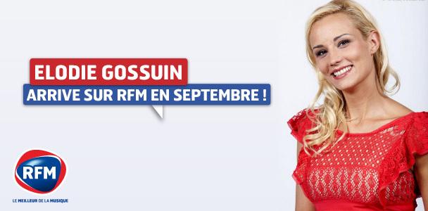 Elodie Gossuin sur RFM en septembre