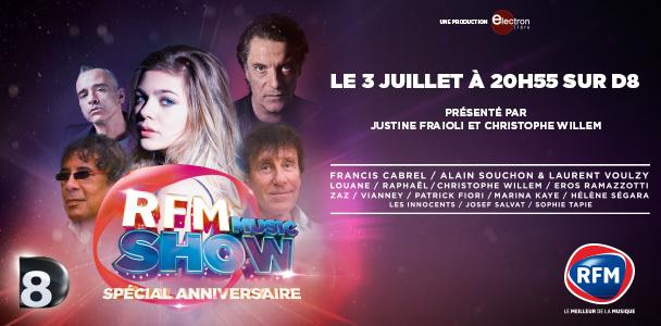 RFM Music Show ce soir à 20h55 sur D8