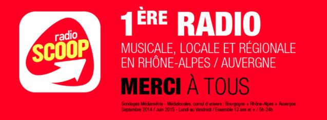 Radio Scoop s'impose en Rhône-Alpes et Auvergne