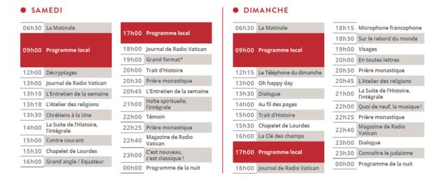 RCF : nouvelle rentrée, nouveaux programmes