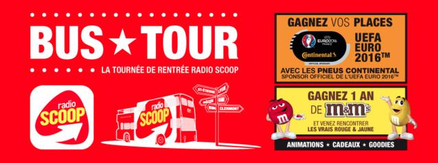 Le Bus Tour : la tournée de rentrée de Radio Scoop