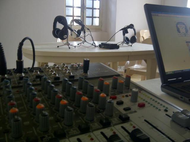 Le studio de Radio Méridien