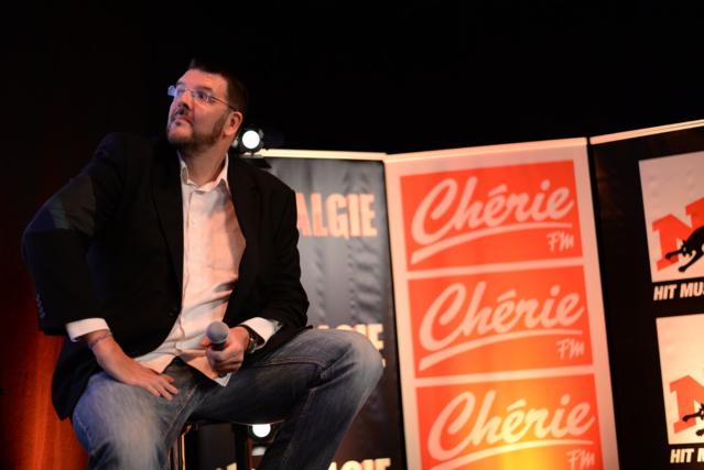 Joël Habay, directeur des programmes de Chérie FM en Belgique, lors de la conférence de presse de rentrée, le 31 août dernier © Chérie FM
