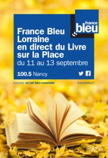 France Bleu Lorraine au salon Le Livre sur la Place