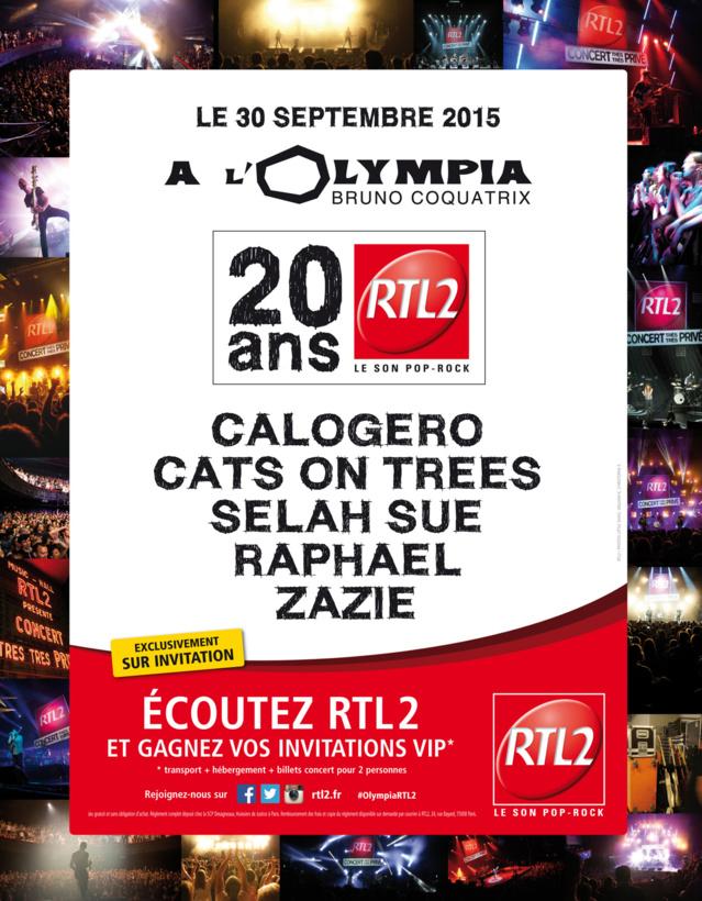 RTL2 fête ses 20 ans à l'Olympia