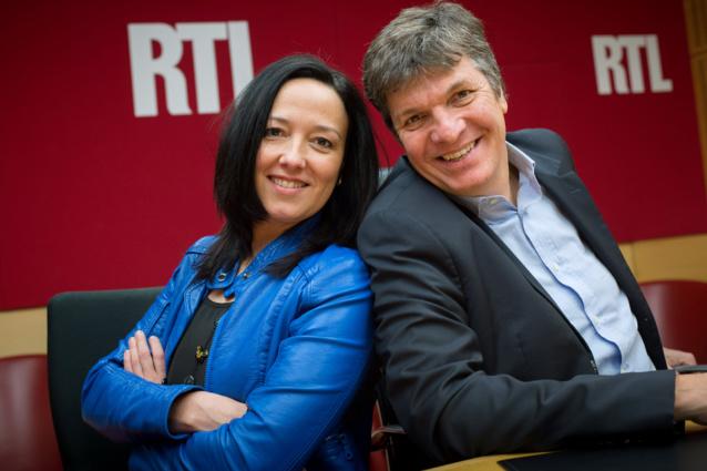 Agnès Bonfillon et Christophe Pacaud depuis les locaux de L'Équipe © Abaca Press