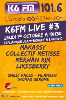 Nouveau K6FM Live le 1er octobre