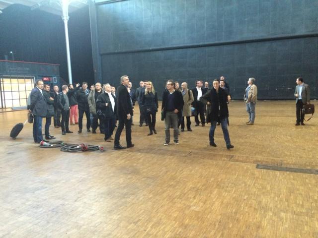 Avant un déjeuner de travail, une partie des exposants et des intervenants ont visité en avant-première l'espace Charlie Parker à la Grande Halle de la Villette