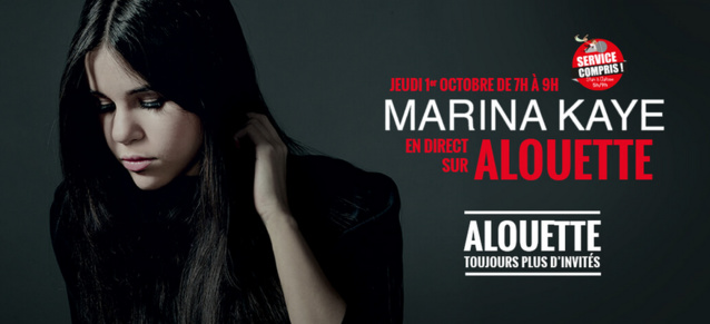 Marina Kaye dans les studios d'Alouette