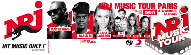 NRJ Music Tour à Paris ce 12 octobre