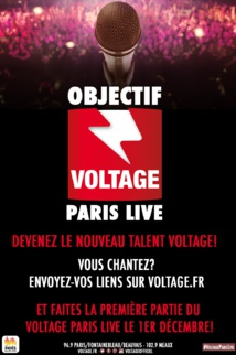 Voltage lance son concours de talent