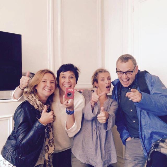 Isabelle Brès et son équipe sur Sud Radio.
