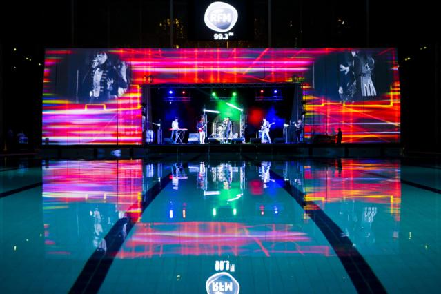 Ce RFM Music Live, en son et lumière, a aussi été ponctué par des ballets aquatiques © Guilhem Canal