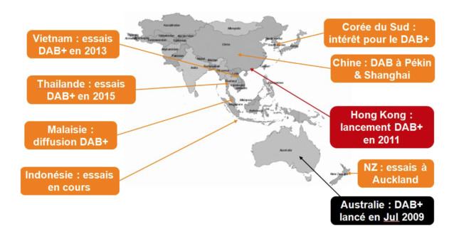 En Australie, un guide pour accompagner le lancement d'un test RNT a été publié et le DAB+ représente près de 25% de l'écoute radio totale © WorldDAB