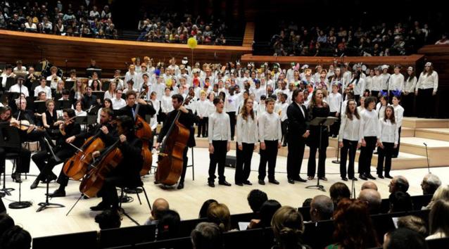 Concert de la Maîtrise de Radio France lors du concert d'inauguration de l'Auditorium, le 16 novembre 2014 © Christophe Abramowitz