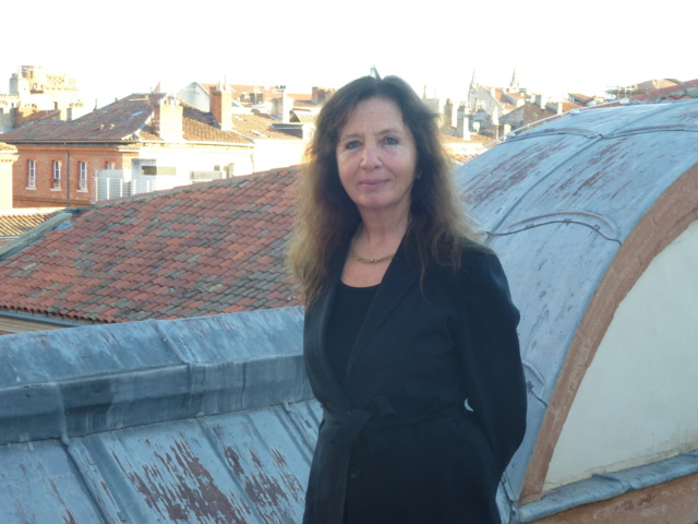 Flore Iborra, sur la terrasse du CTA de Toulouse. © B.Vidal
