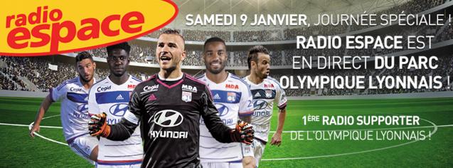 Radio Espace en direct du nouveau grand stade de Lyon