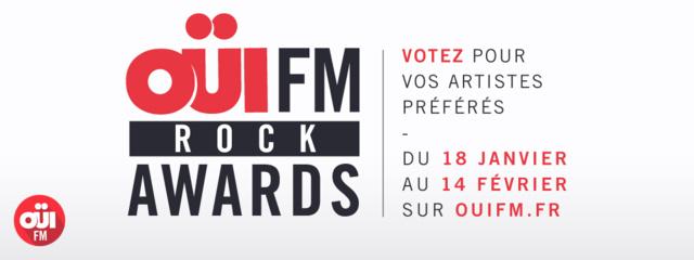 Oui FM lance les premiers Oui FM Rock Awards