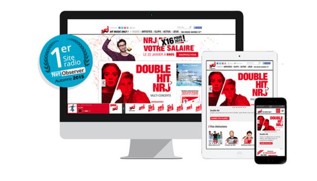 Pour la 2e année consécutive, NRJ.fr est le site radio préféré des Français