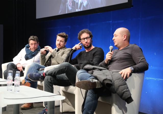 """Pascal Gigot, Bruno Guillon, Manu Levy et Cauet ont participé à la conférence de clôture qui concernait """"Le rire à la radio"""""""