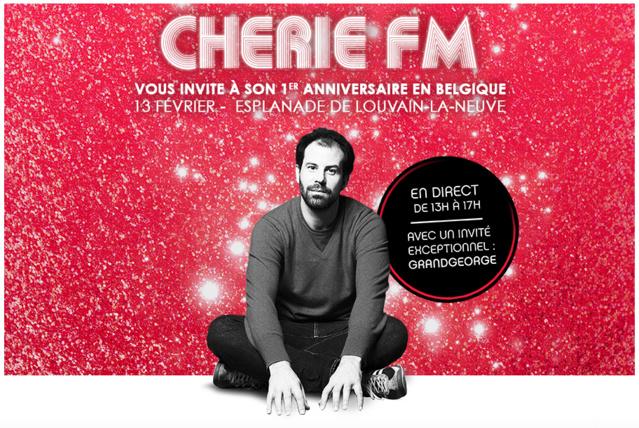 Chérie FM fête son premier anniversaire en Belgique