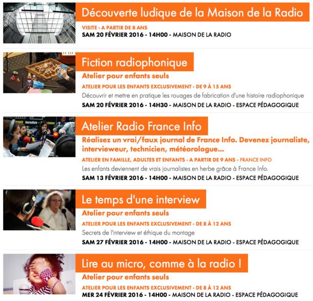 Vacances ludiques à la Maison de la Radio