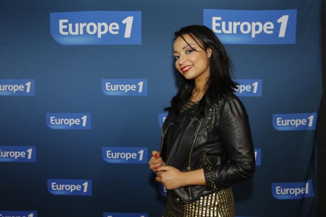 Julia Martin qui anime La Playlist de Julia sur Europe 1 présentait ce Podium. Photo : P.Laurent / Capa Pictures / Europe 1