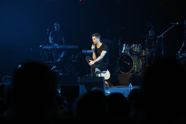 Emmanuel Moire a interprété 4 titres devant un public conquis. Photo : P.Laurent / Capa Pictures / Europe 1