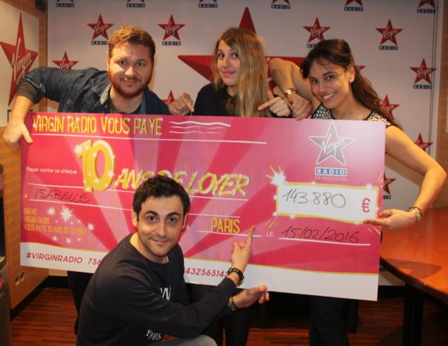 143 880 euros gagnés sur Virgin Radio
