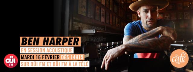Ben Harper en session acoustique sur Oui FM