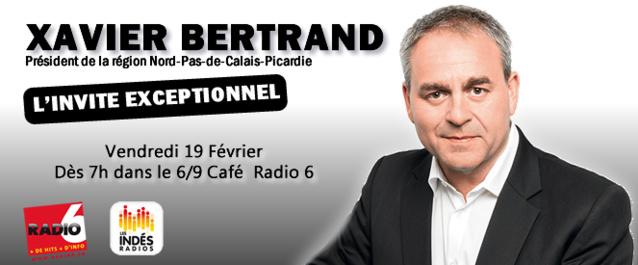 Xavier Bertrand sur Radio 6