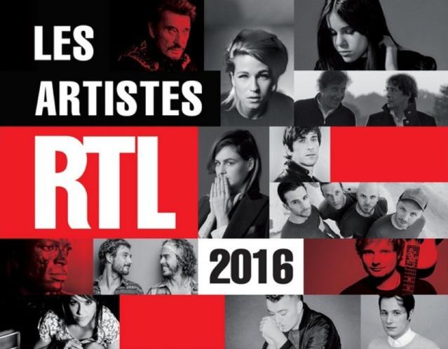 """Parution de la compilation """"Les artistes RTL 2016"""""""
