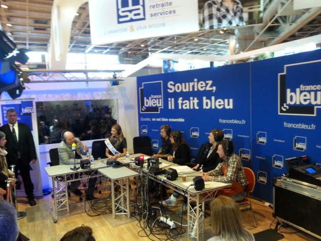 Le studio France Bleu, l'an passé, au Salon de l' agriculture © Bernard Guyot - Radio France