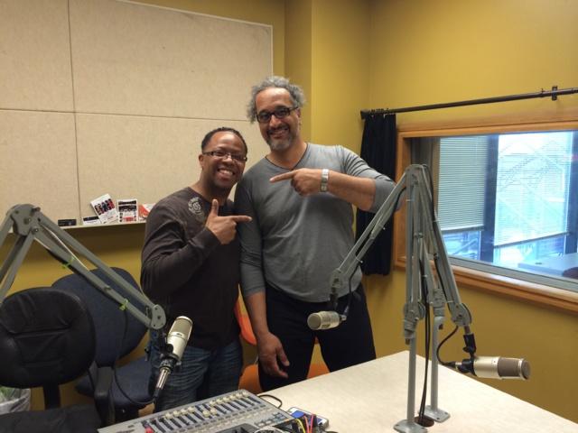Maurice avec Lyle Anderson animateur de Crescent City Radio