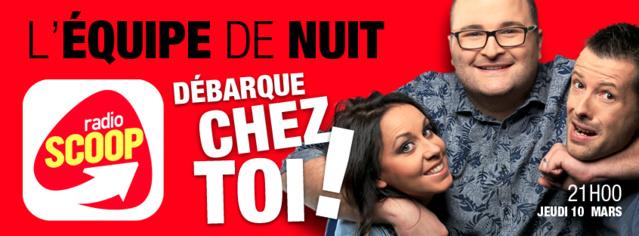 Radio Scoop délocalise L'Équipe de Nuit