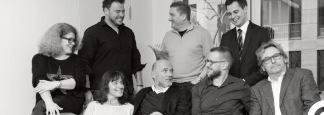 La team On Air. De g. à dr. debout : K. Hopkins, A. Wissmeyer, Max Müller. Assis : G. Seidel, E. Ziegler, T. Roth, Matthias Müller, R. Eichhorn. © ON AIR