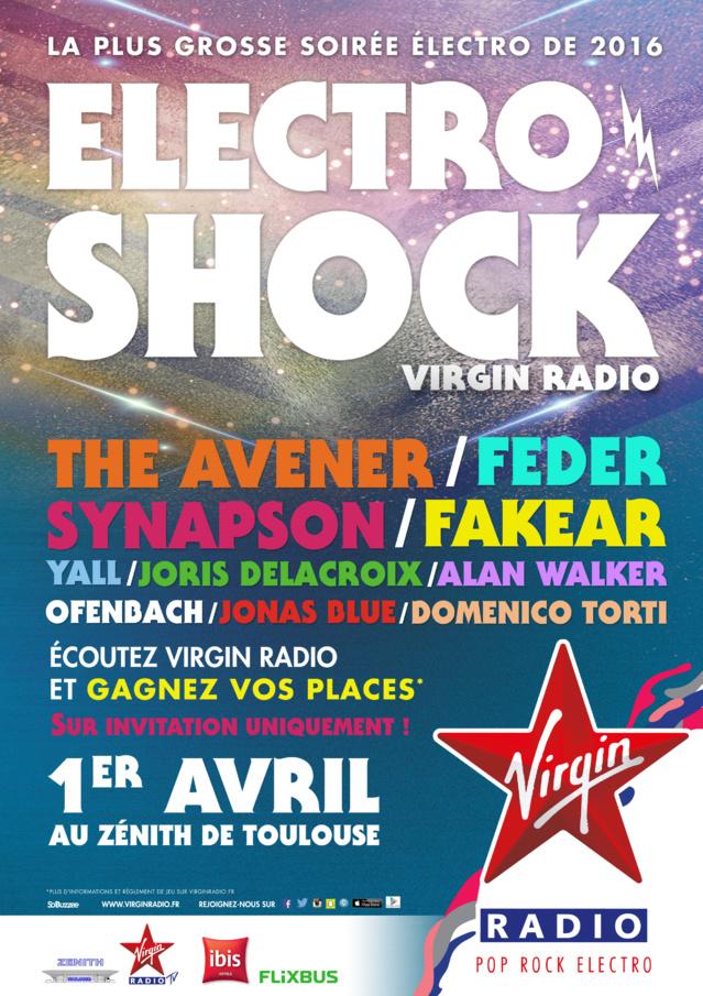 Soirée ElectroShock Virgin Radio à Toulouse