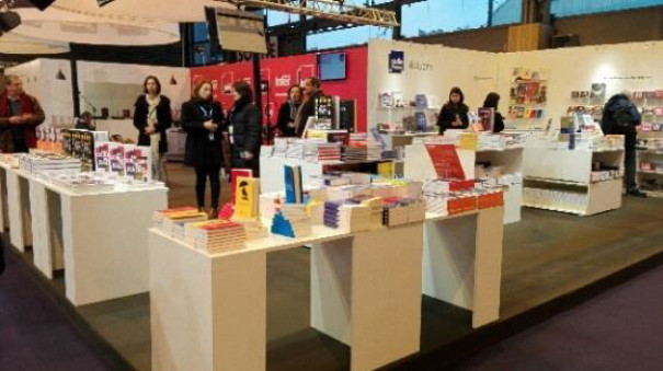 Le stand de Radio France au Salon Livre Paris
