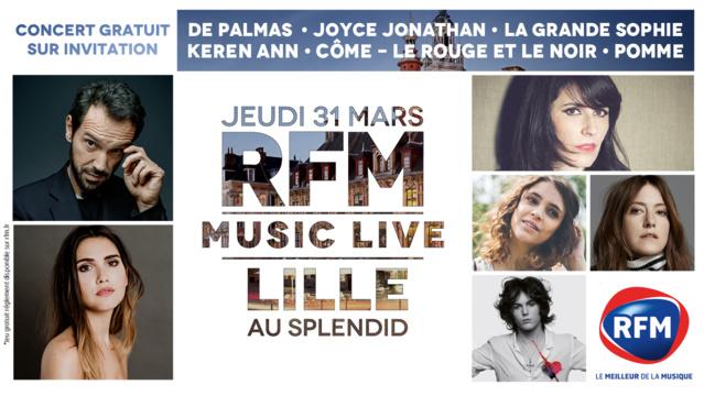 """Nouvel """"RFM Music Live"""" à Lille"""