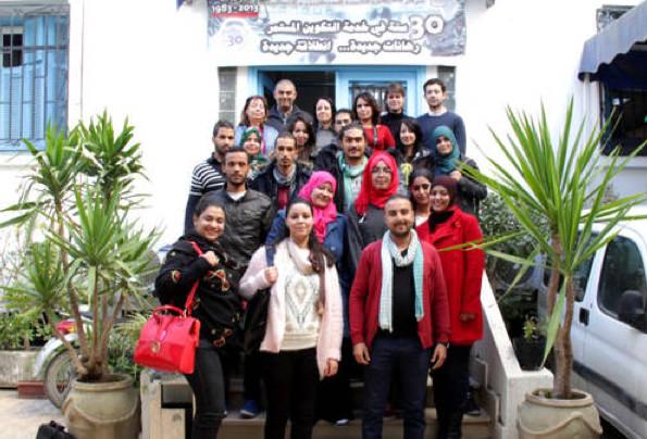 Les participants à l'atelier sur les femmes et les médias © UNESCO / Issaam Slimene