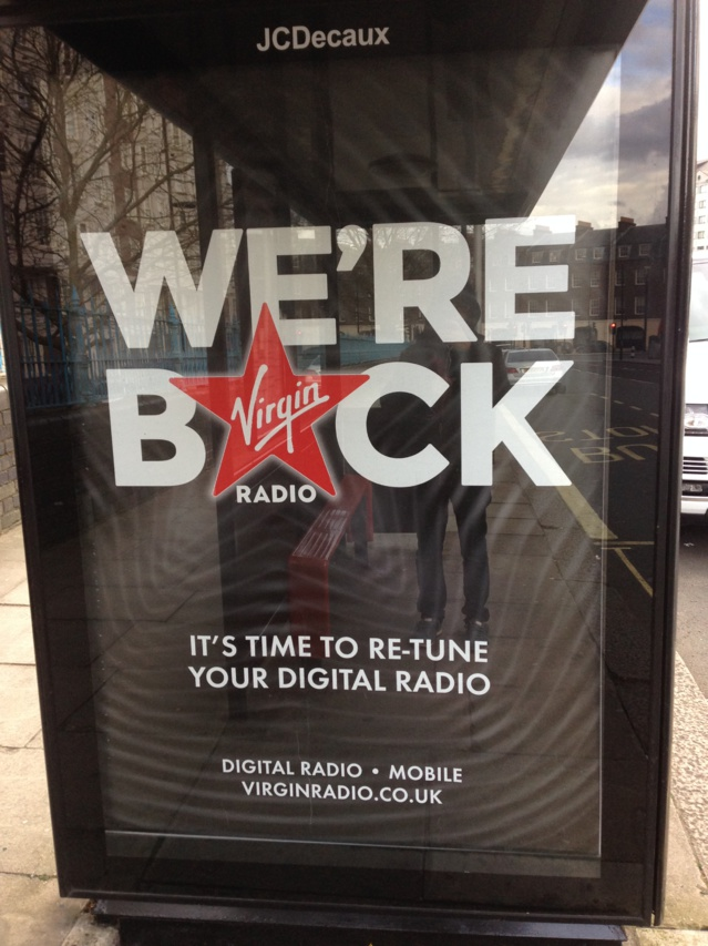 Virgin Radio s'affiche à Londres