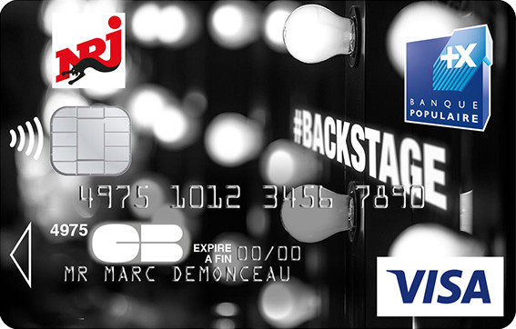 La carte NRJ Banque Pop' plonge au coeur des Backstages