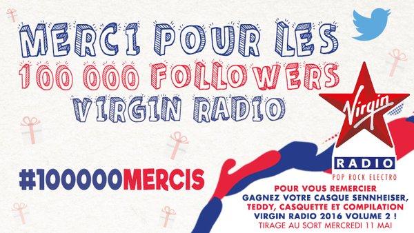 Virgin Radio : 100 000 followers sur Twitter