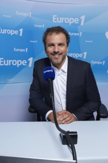 Lionel Rosso au micro durant l'Euro © Christophe Meireis Capa Pictures