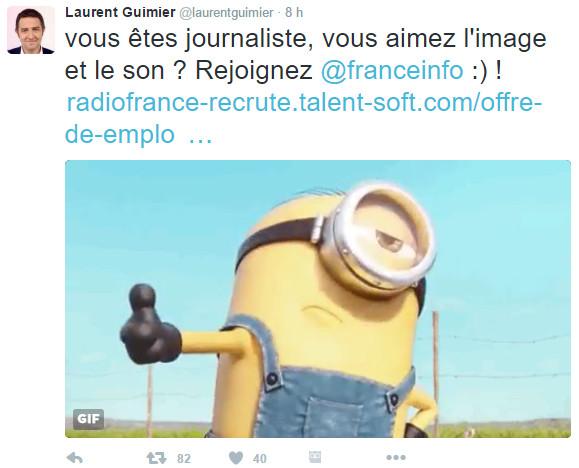 Le patron de France Info recrute sur Twitter : le SNJ s'insurge