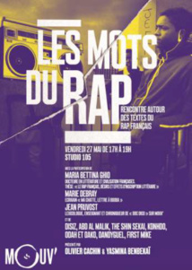 """Mouv' présente """"Les Mots du Rap"""" au Studio 105"""