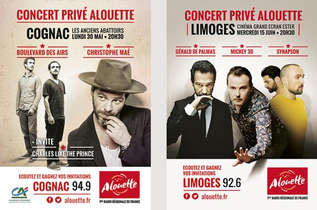 Deux concerts privés proposés par Alouette